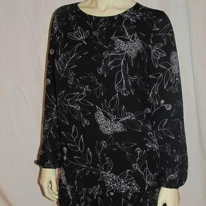 Black/white print dress - Lila Rose